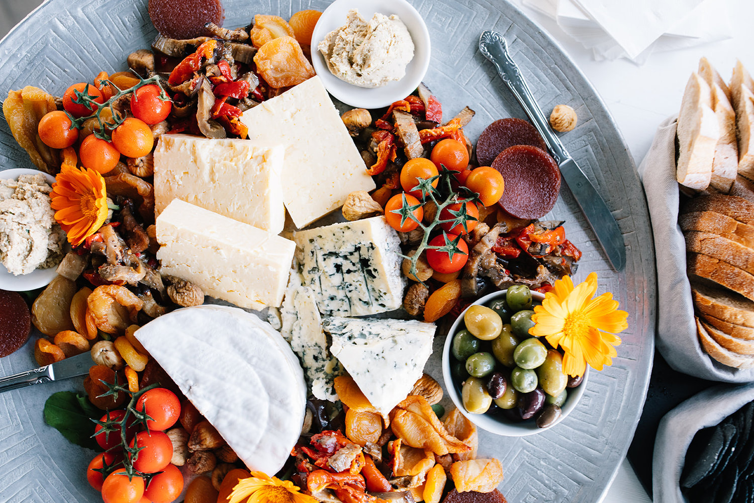 Close up of cheese platter / Elope / Micro Wedding