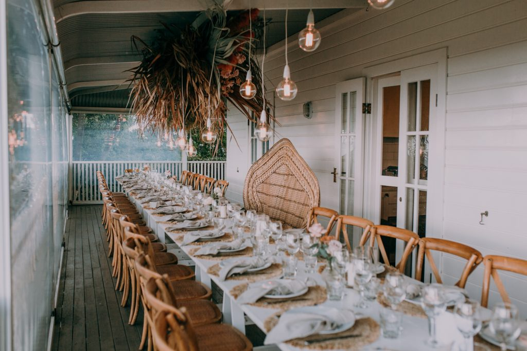 Reception table set up / Byron Bay