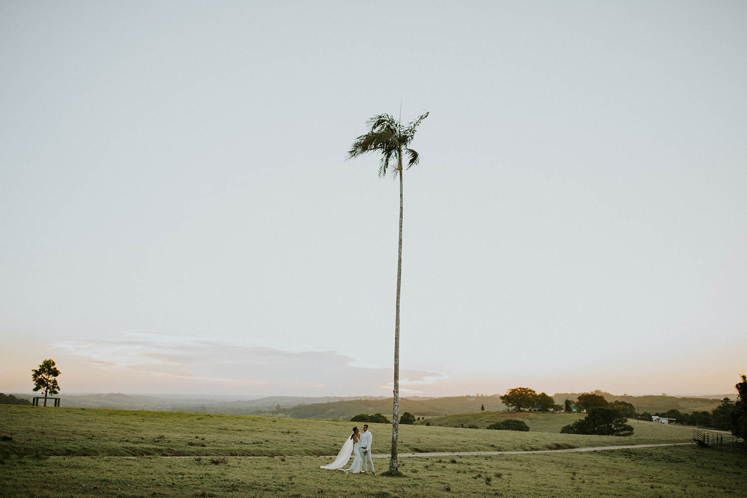 Bride and groom / wedding elopement photography / Byron hinterlands