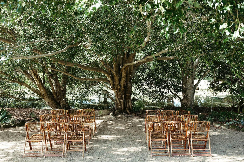 Wedding ceremony set up / Fig Tree