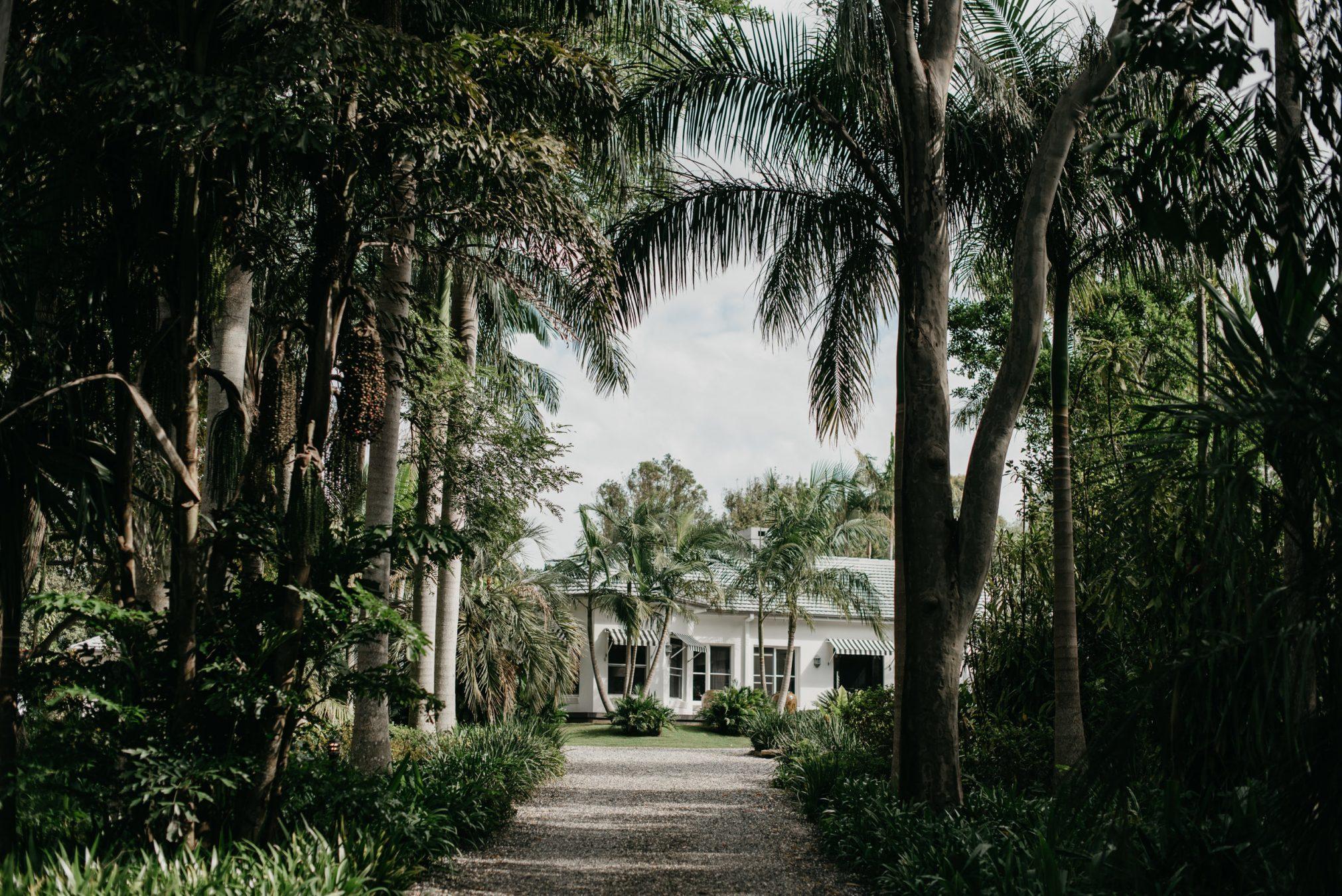 Driveway of wedding location.
