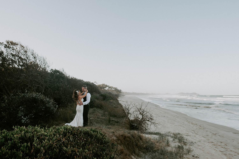 Bride and groom / wedding photography / Broken Head