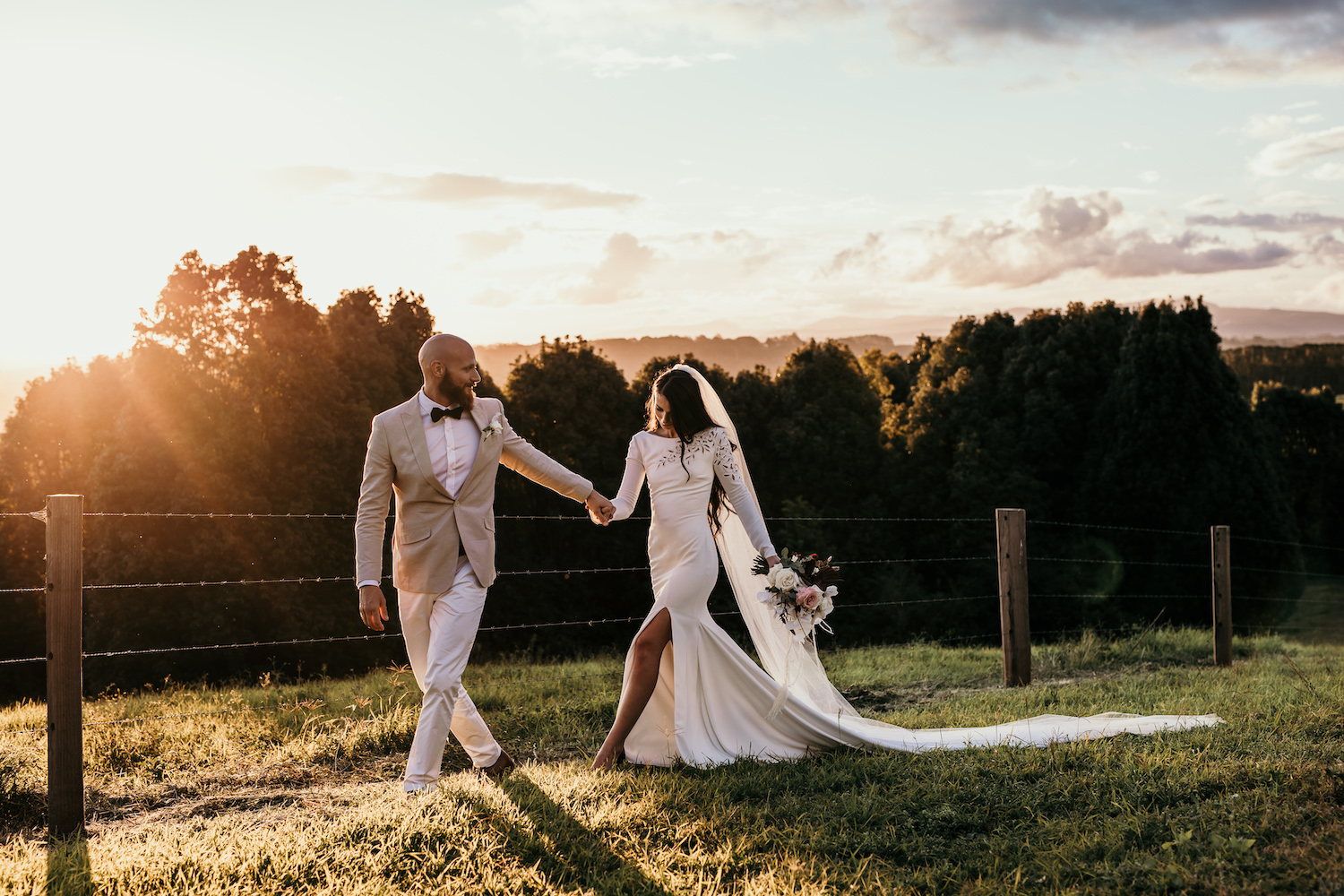 Bride and groom / Micro wedding photography at Temple Farmhouse