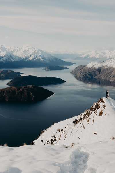 Wedding photography / New Zealand snow