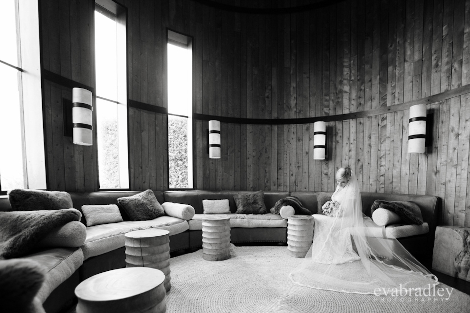 Bride in loungeroom - Wedding photography Cape Kidnappers - New Zealand