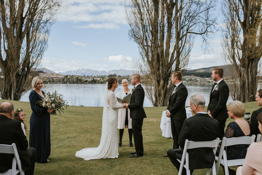 Bride and groom at alter - Wedding photography Edgewater - New Zealand