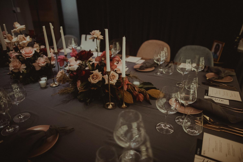 Reception decoration - Wedding photography Kamana Lakehouse - New Zealand