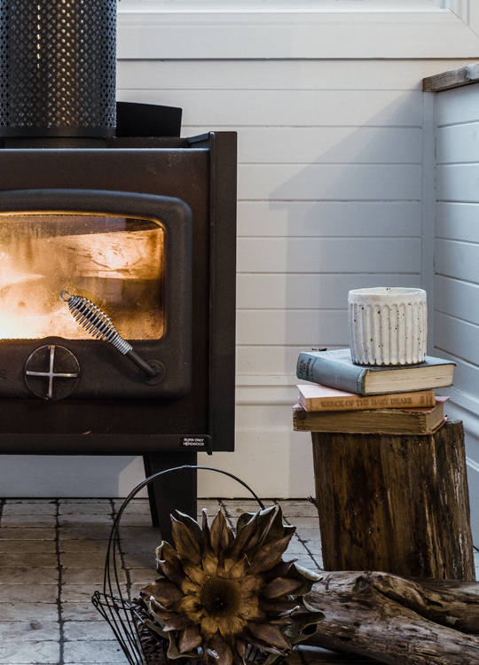 Rustic fireplace in Captains Rest - Tasmania