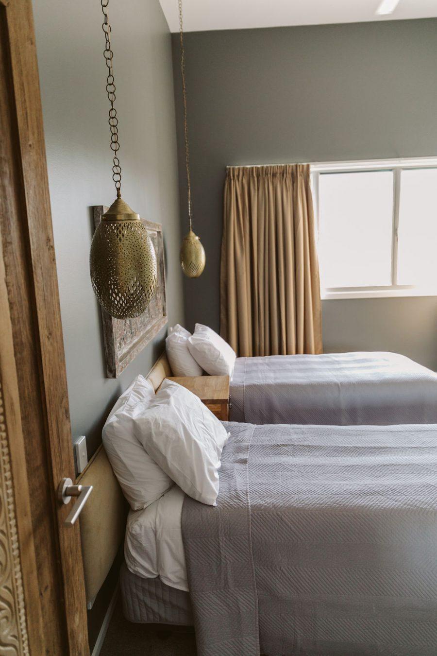 Bed room of Byron Bay bathhouse