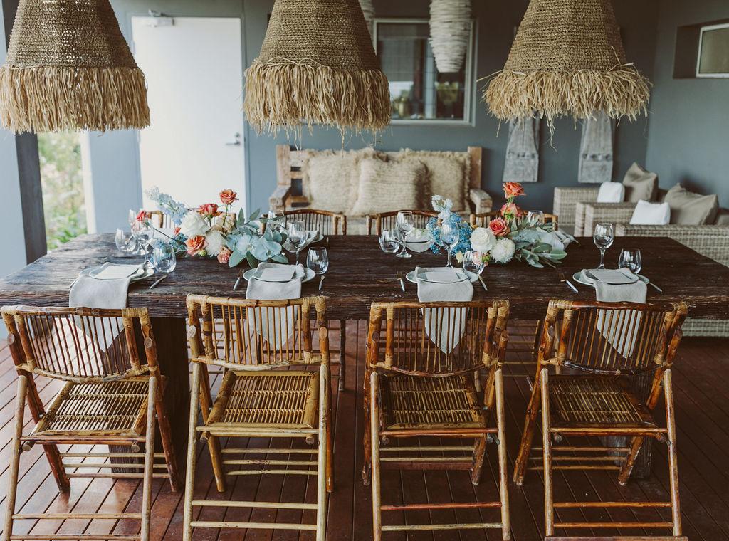 Reception table set up / Byron Bay bathhouse